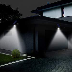 Außenbeleuchtung Solarlampen 16 Led Wasserdicht Solarbetriebene Pir Bewegungserkennung Sensor Wandleuchte Outdoor Garten Pathway Balkon Veranda Sicherheit Licht Lampe SchöN In Farbe