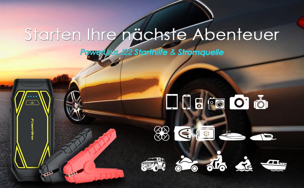 Auto Kühlschrank Handschuhfach : Powerurus mah ip auto starthilfe a spitzenstrom