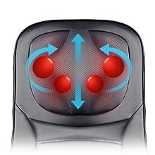 rückenmassagegerät sitzauflage mit wärme elektrische massagematten auto massage sitz massagesessel