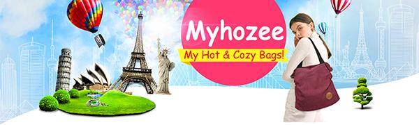 Myhozee Damen Canvas Handtasche