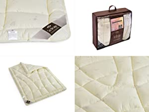 Sei Design Wolle Bettdecke Wool Comfort Mit Feinste Ausserst Bauschige Echter Schurwolle Gefullt Winterwarm 155x220