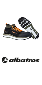 Albatros, impulse, olive, dual impulse, safety shoes, work shoes.