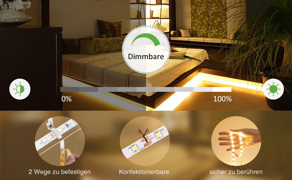 Ustellar Dimmbar 5m Led Streifen Mit Netzteil 600 Leds Lichtband Mit