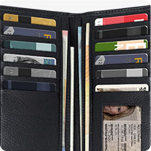 ROYALZ Portemonnaie Damen Groß viele Kartenfächer Leder