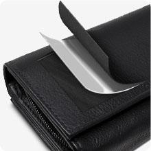ROYALZ Portemonnaie Damen Groß RFID NFC Blocker Leder
