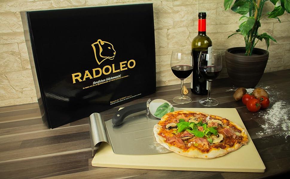 Pizzastein Aldi Anleitung Gasgrill : Radoleo® pizzastein l aus cordierit premium set mit pizza roller