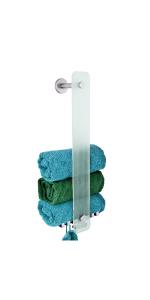 Glazen handdoekhouder.