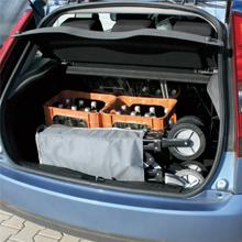 Bollerwagen passt auch in den Kofferraum