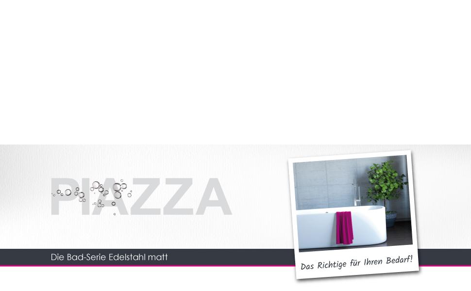 bremermann Bad-Serie Piazza Feuchtt/ücherbox mit Halterung