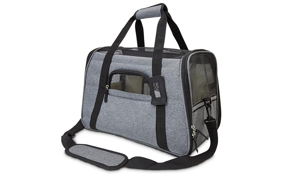 achilles Haustiertasche, Transporttasche für kleine Hunde und Katzen, Tiertragetasche, Haustiertasche, Kleintiertasche Hundereisetasche, Welpentasche,