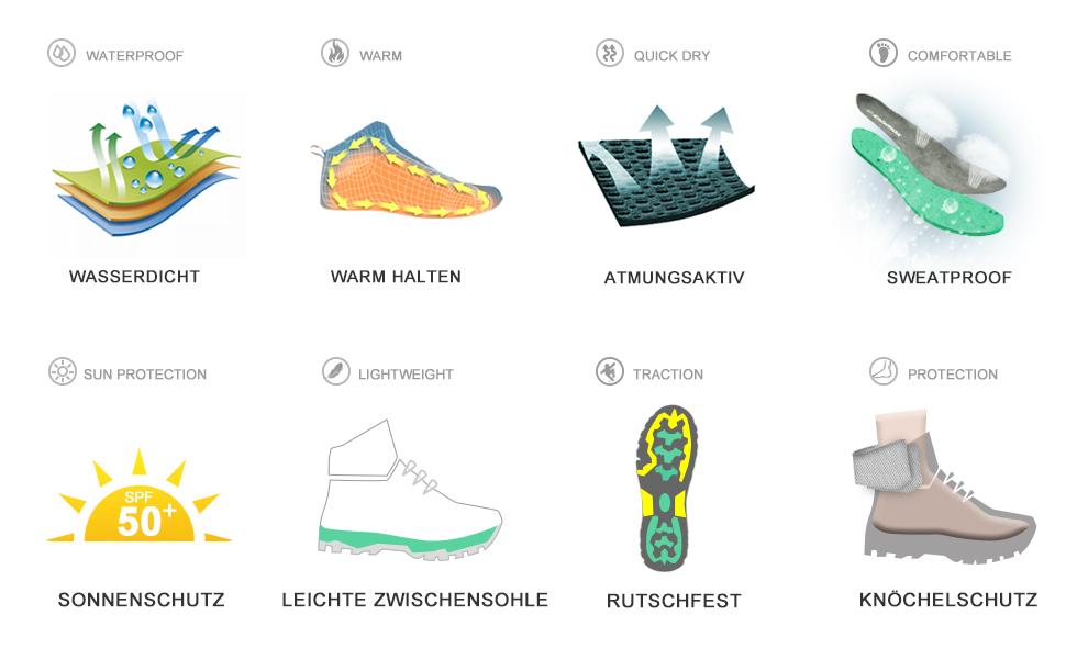 ... Schuhe Herren Damen Sports Outdoor Gleitsicher Hiking Boots Men Women  Waterproof Trekking-  Wanderhalbschuhe. Damen Herren Wanderschuhe 4fd8db0854
