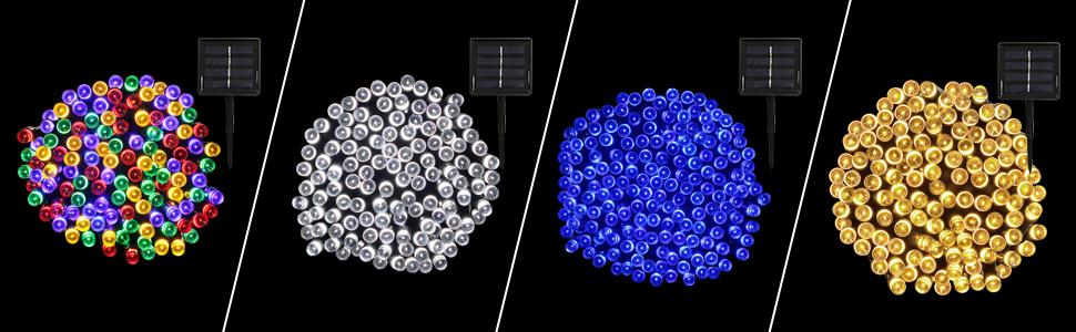 Zaun YLL Solar Lichte Au/ßen,200 LEDs Wasserdicht Au/ßen Lichterkette 22M Rasen F/ür Garten Energieklasse A++ Balkon Pavillon Terrasse Hochzeit Deko