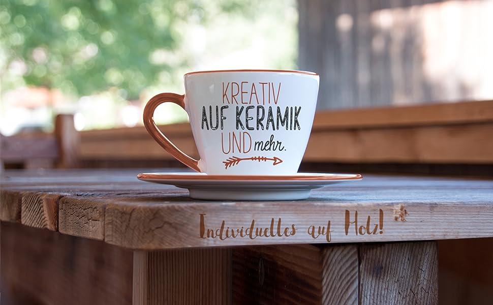 Kreativ auf Keramik und mehr