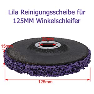 2 50mm Scheibe Schwarz Reinigungsscheibe Winkelschleifer Reinigungsschei 5tlg