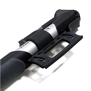 V/álvula Reversible D Se adapta a Presta y Schrader Compacta Bomba de aire para Neum/ático Port/átil VeloChampion Alloy Pro 12 Mini Bomba para Bicicleta con Man/ómetro con 120 PSI // 8.3 bar Presi/ón M/áxima