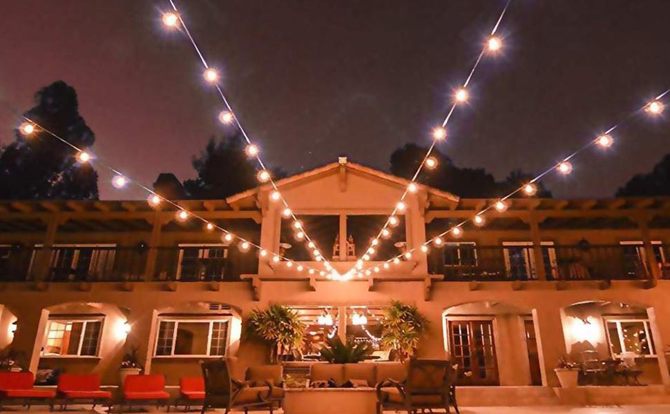 Lichterkette Außen Fochea Lichterkette Glühbirnen G40 9.5m