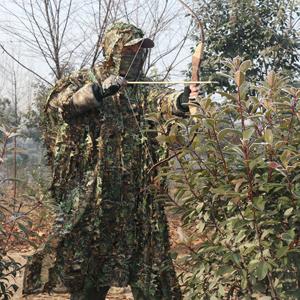 gfeu Outdoor Erwachsene 3D Bl/ätter Ghillie Suit Camouflage Poncho Camo Cape Umhang Stealth Military CS Woodland Jagd Kleidung frei Gr/ö/ße