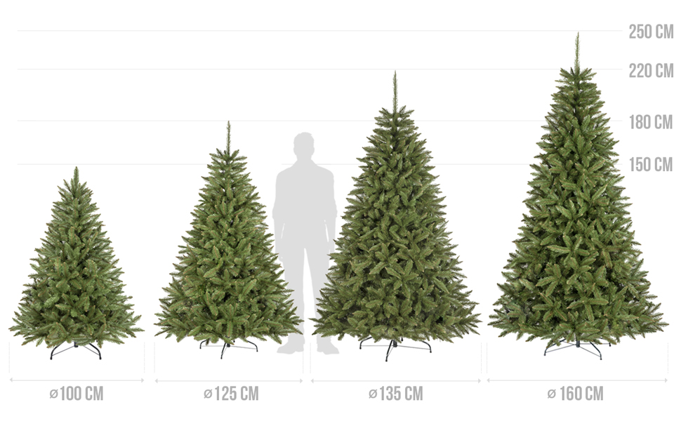 Amazon.de: FairyTrees Weihnachtsbaum künstlich FICHTE Natur, grüner ...