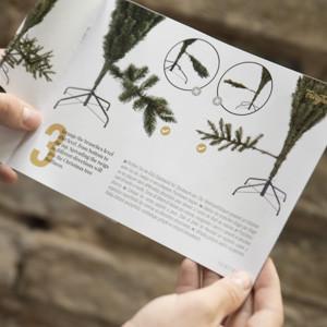 Künstliche Weihnachtsbäume von FairyTrees Installationsanweisungen