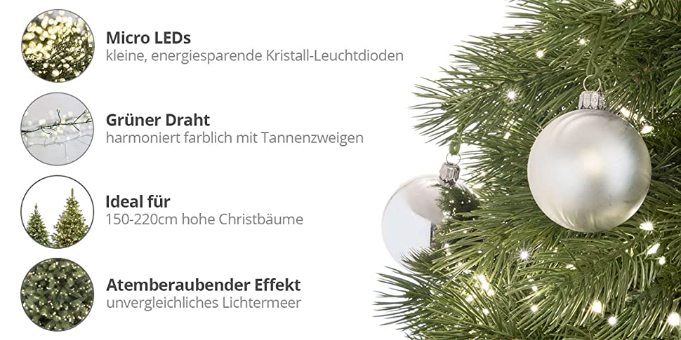 fairytrees micro led lichterkette f r weihnachtsbaum leds 1000 farbtemperatur 2700k warmwei. Black Bedroom Furniture Sets. Home Design Ideas