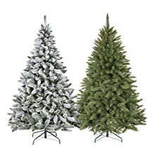 fairytrees weihnachtsbaum k nstlich kiefer natur weiss beschneit material pvc echte. Black Bedroom Furniture Sets. Home Design Ideas