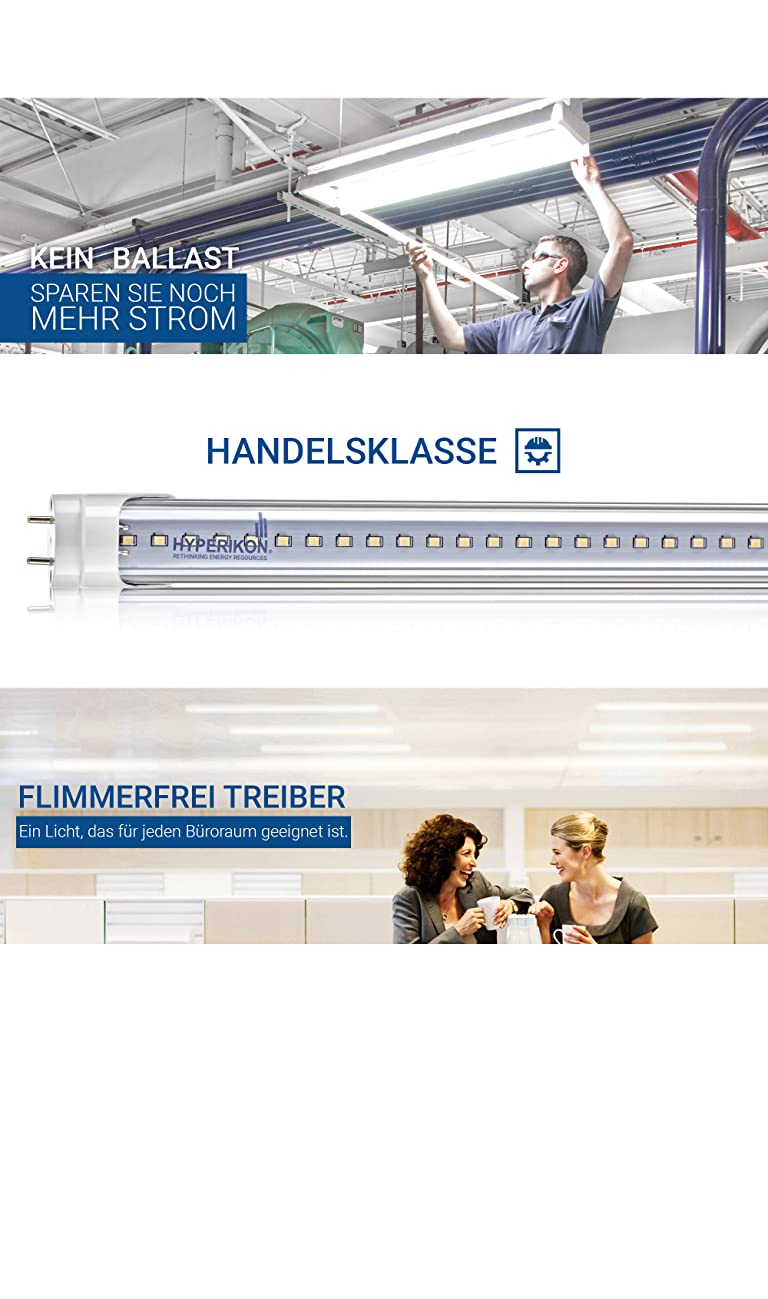 Hyperikon LED Röhre 120 cm T8 G13 / ersetzt ihre alte ...