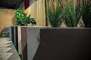Pflanzkübel Terrasse.Pflanzwerk Pflanzkübel Untersetzer 2er Set Blumenkübel Frostschutz Kein Stauwasser Perfekter Wasserablauf