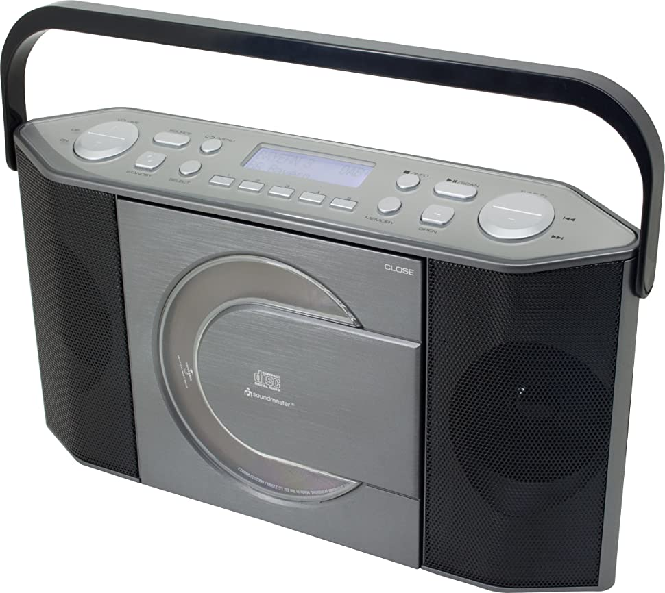 soundmaster rcd1770an cd spieler fm radio mp3 player dab tragbares wiederaufladbares. Black Bedroom Furniture Sets. Home Design Ideas