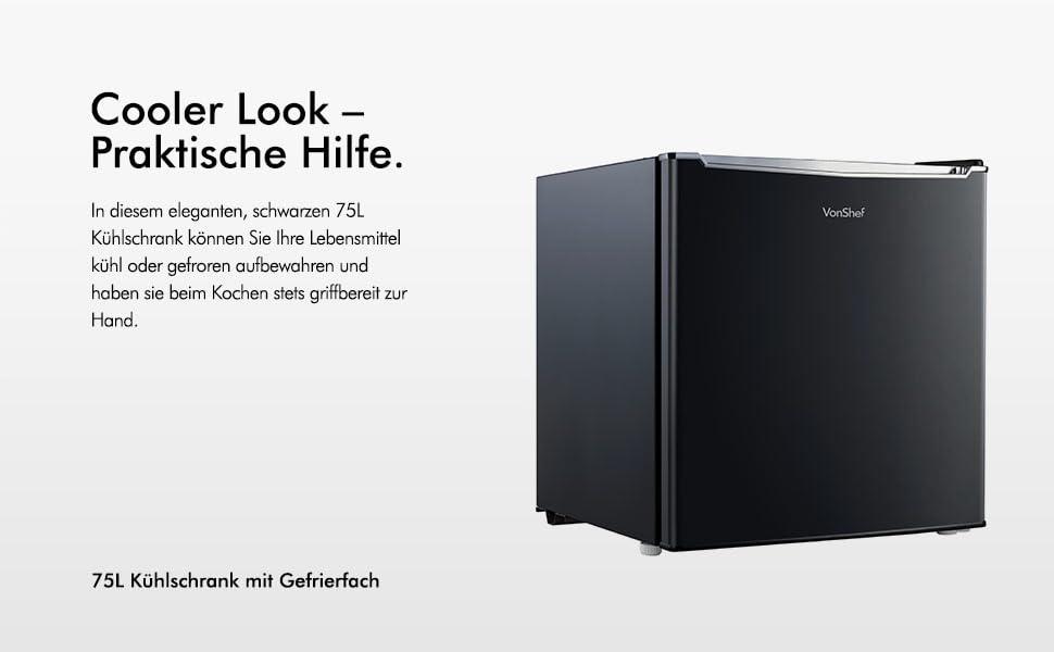 Bomann Kühlschrank Stufen : Vonshef l kühlschrank mit gefrierfach unterbaukühlschrank