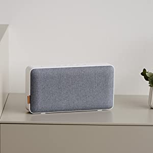 Sackit Moveit Wifi Bluetooth Speaker Compact Bluetooth Speaker In Danish Design Wifi Speaker Suitable For Smartphone Tablet Or Pc White And Grey Elektronik