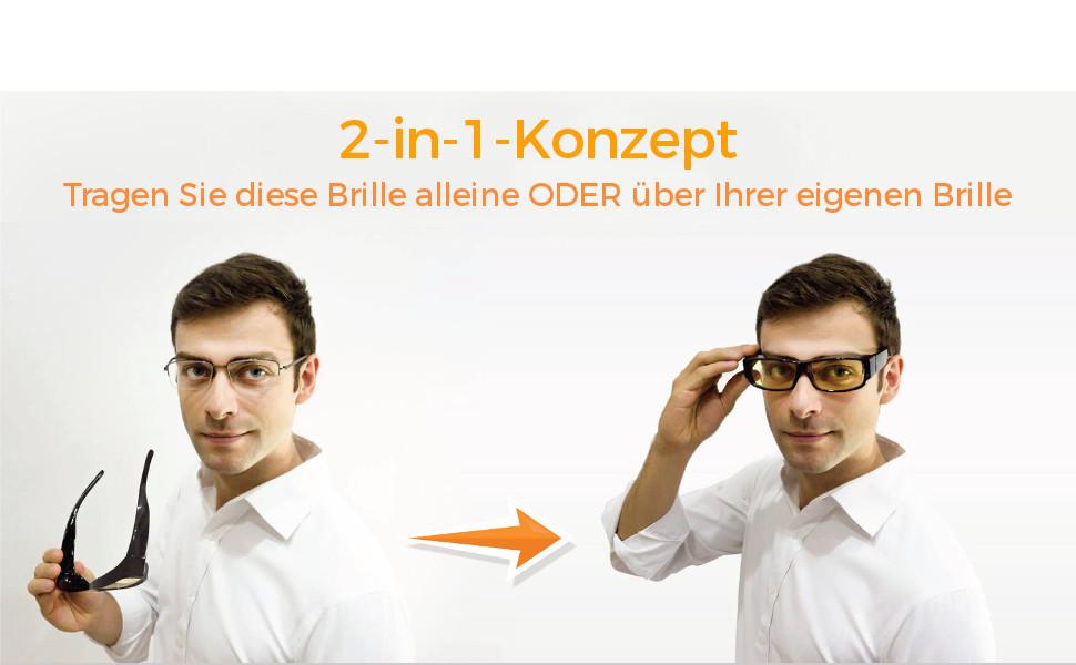 TV Umfasstes Gestell Brille gegen Blaulicht Smartphones 2-in-1-Brille Hoher Blaulichtfilter- Premium-Bernsteingl/äser Tablets Anti-M/üdigkeit-Brille f/ür Computerbildschirme