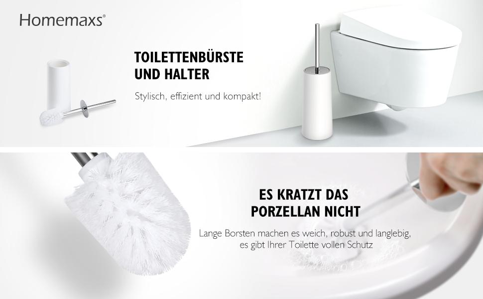 Homemaxs Wc Burste Edelstahl Und Rost Bestandig Kloburste Und