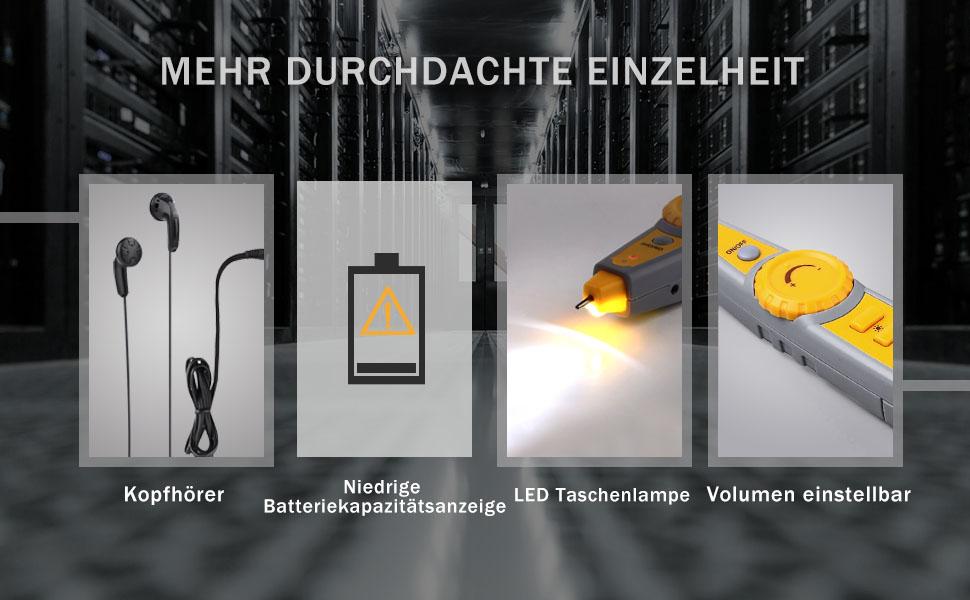 kabeltester tacklife ct01 klassisches wire tracker rj11. Black Bedroom Furniture Sets. Home Design Ideas