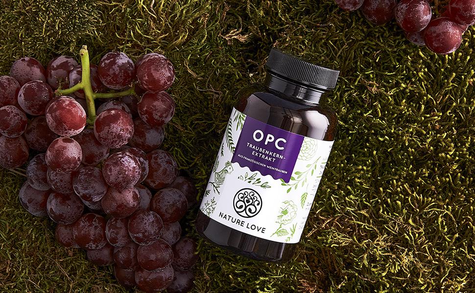 Nature Love OPC Traubenkernextrakt Natur Traubenkern Hochdosiert HPLC