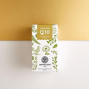 Nature Love Q10 Ubiquinol Ubiquinon Anti-aging Kapseln Tabletten Ohne Zusätze Hefe Fermentation