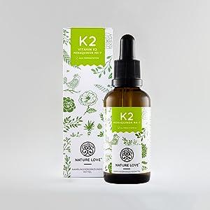 Vitamin K2 Tropfen (50ml). Premium: VitaMK7 Rohstoff von Gnosis mit 99,7% All Trans