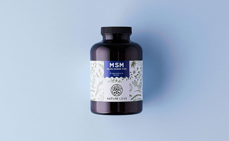 MSM Nature Love Methylsulfonylmethan Organischer Schwefel pflanzlich vegan hochdosiert