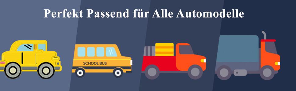 AutoScheich/® XXL Sonnenschutz Frontscheibe LKW Bus Transporter Sonnenblende Reflex Fahrerhaus Windschutzscheibe Hitzeschutz 90cm x 240cm