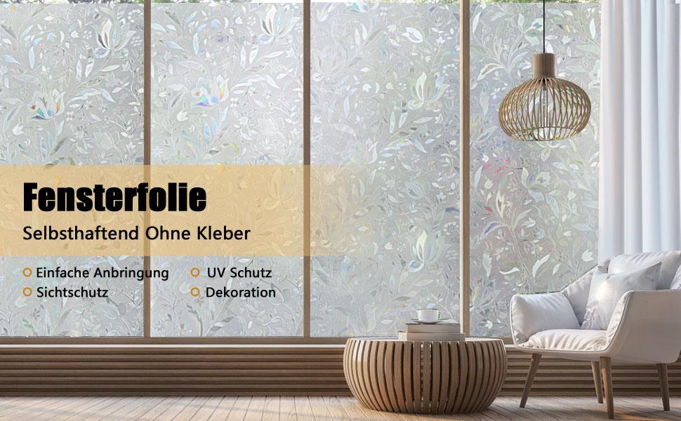 Amazon De Homein 3d Fensterfolie Selbsthaftend Fensterbilder