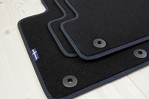 Tuning Art D100 Auto Fußmatten Schweden Design Bandeinfassung Steppnaht Auto