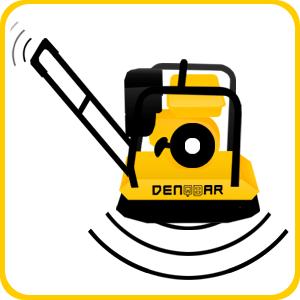 DENQBAR Profi Rüttelplatte mit Benzinmotor mit 102 kg und