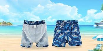 ESTAMICO Jungen Beil/äufige UV-Schutz Badeshorts Kinder Setzen Elastische Taille Strand Badehose