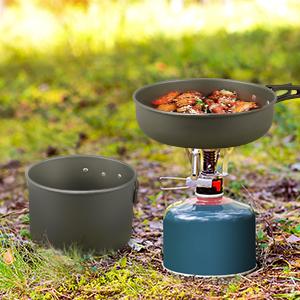 eloxiertes Aluminium Leichtes Camping-Essbesteck Mountain Warehouse Family Camping-Kochset Campingausr/üstung zum Kochen auf Reisen und im Freien