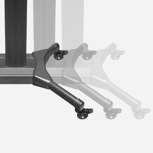 Aluminium TV Ständer - einfach zu transportieren