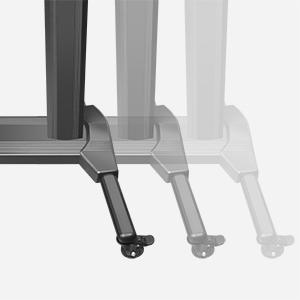 Starker Aluminium TV Ständer - einfach zu transportieren