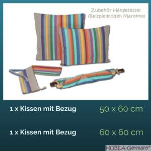 Hängesessel Zubehör, Kissen 50x60 cam, Kissen + Bezüge 60x60 cm, Tragetasche