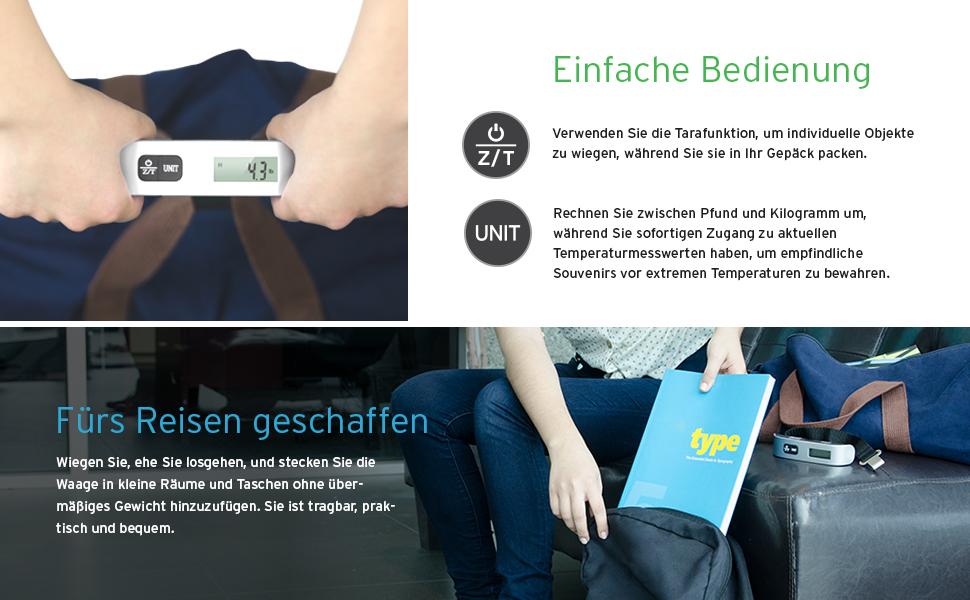 Laser Entfernungsmesser Im Handgepäck : Etekcity digitale kofferwaage gepäckwaage handwaage hängewaage mit