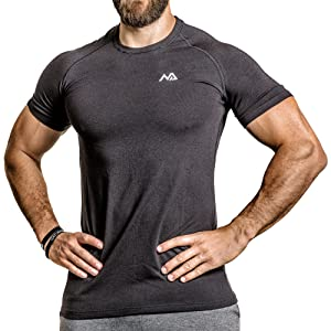 Natural Athlet T-shirt schwarz