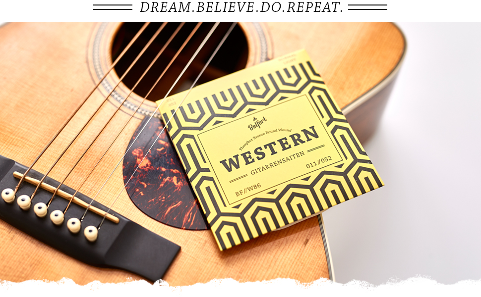 DE 2 Satz Stahl Saiten Akustik Gitarrensaiten für Konzertgitarre Westerngitarre