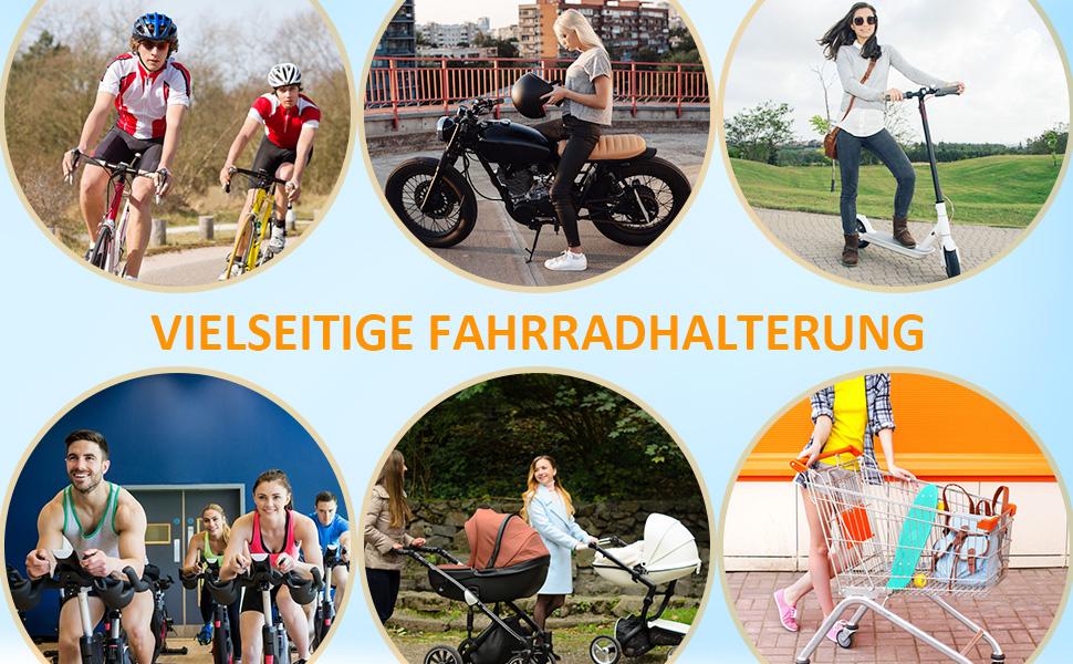 Cocoda Handyhalterung Fahrrad, 360° Drehbarer Handyhalter